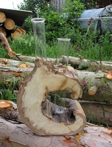 Apfelholzvase natur